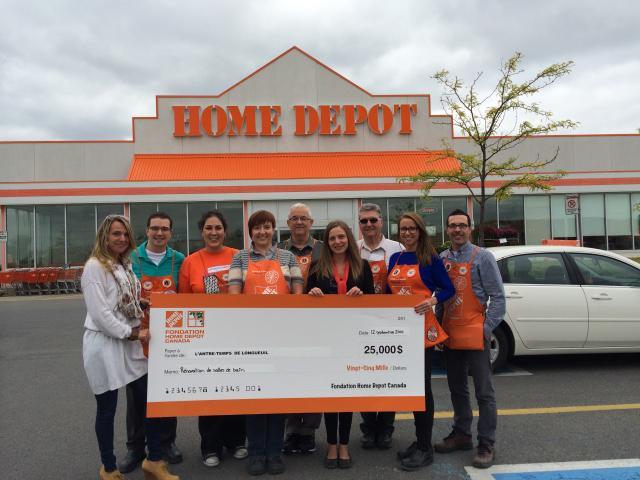 Le projet Porte Orange de la Fondation Home Depot Canada octroie plus de 30 000 $ à L'Antre-Temps
