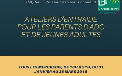 Inscrivez-vous aux ATELIERS PARENTS dès maintenant !